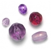 Lucite Assorted Spacer Beads Amethyst - 35 Grams